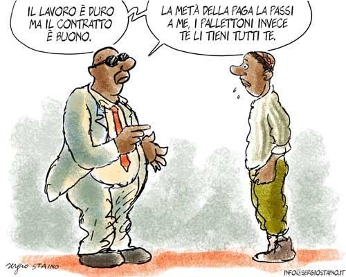 La vignetta di Staino del 10 gennaio 2010