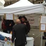 Anche l'On.le Paolo Parentela, neoeletto dal Movimento alla Camera per la Deputazione calabrese, al banchetto con gli altri attivisti