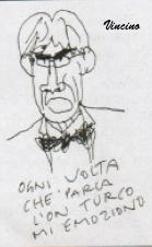 Vincino, caricatura di Maurizio Turco