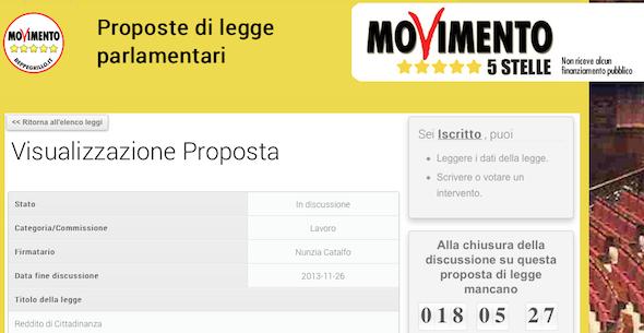 #M5S, sul blog di Beppe Grillo in discussione la legge per istituire il reddito minimo di cittadinanza