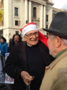 Marco Pannella, Natale 25 dicembre 2013, Roma - III Marcia per l'Amnistia!