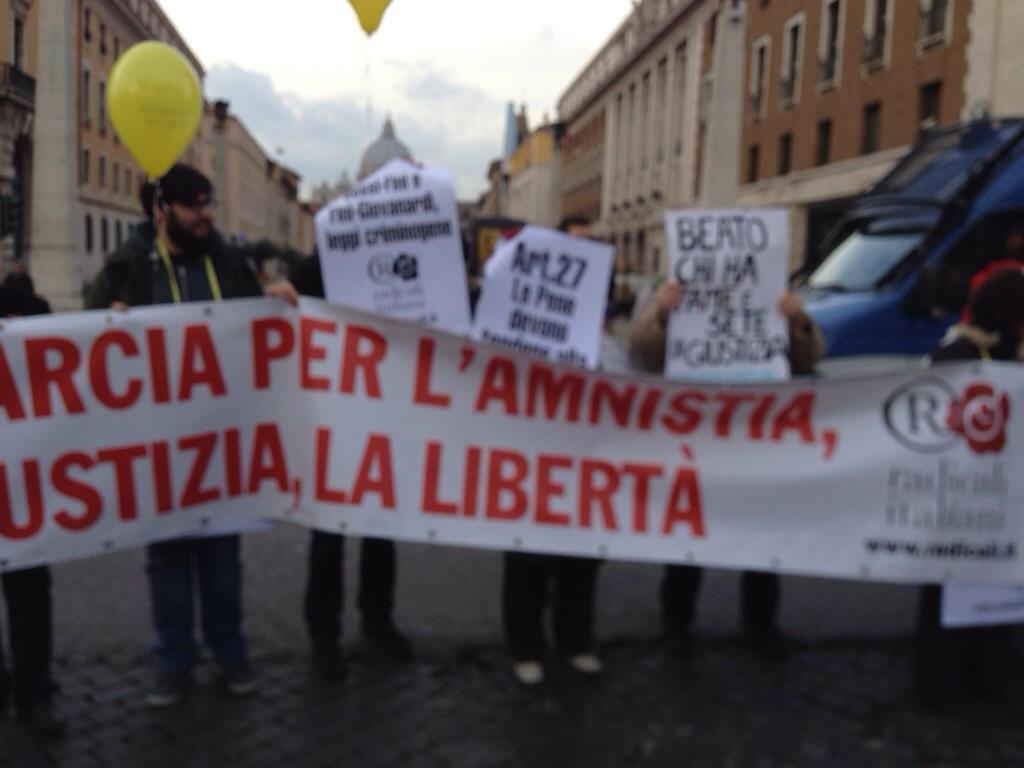 Il 6 Novembre Marcia per l'Amnistia intitolata a Marco Pannella e Papa Francesco
