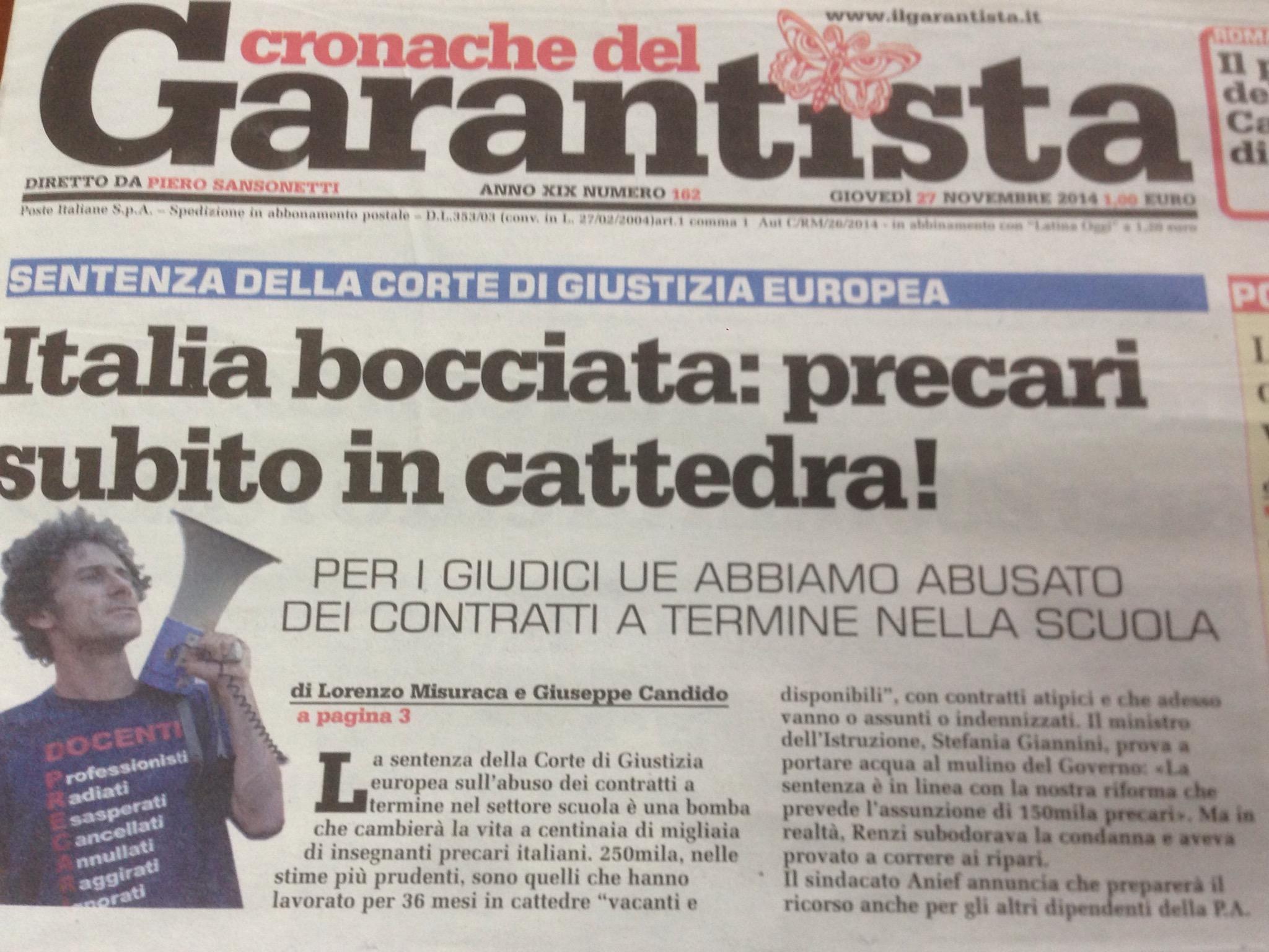 #LaBuonaScuola: #Renzi fa il furbo ma l'Europa ci condanna