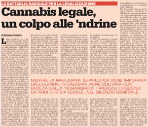 Articolo di Giuseppe Candido pubblicato da Cronache del Garantista 20/ottobre/2014