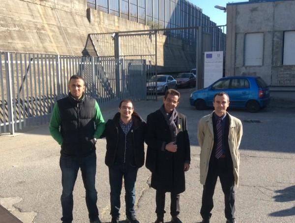 """29/12/2015 - Antonio Giglio, Emilio Quintieri, Giuseppe Candido, Rocco Ruffa (da Sx) in visita alla casa circondariale di Catanzaro """"Ugo Caridi"""""""