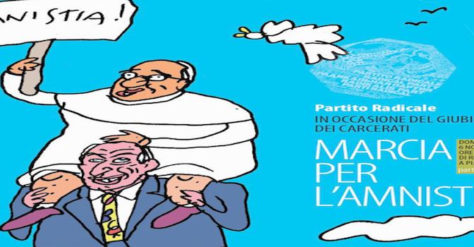 Marcia @RadicalParty per #amnistia intitolata a Marco Pannella e Papa Francesco
