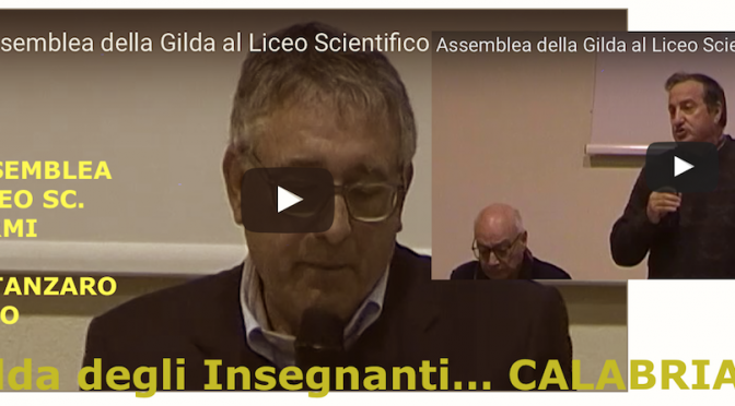 @GildaInsegnanti: 4 aprile 2017, assemblea provinciale al Liceo Scientifico E.Fermi di Catanzaro