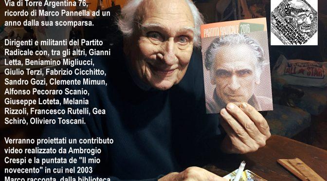 Marco Pannella. Un anno senza un'amicizia amorevole