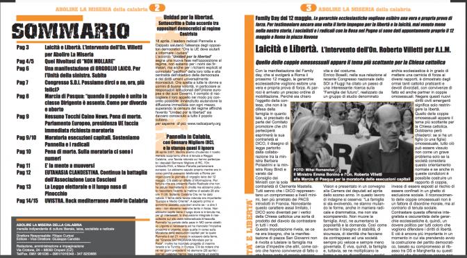Abolire la miseria – Maggio 2007 – Anno I n°5 con inserto su Giorgiana Masi